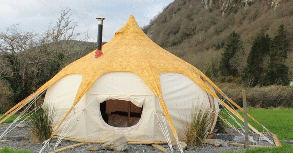 Glamping tent double setup